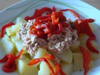 Recette salade de pomme de terre et poivron grill - Salade de poivron grille ...